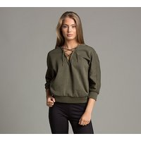 Womens Yogini Cropped Hooded Top