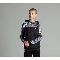 Junior Full Zip Poly Camo Hooded Top