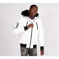 Bradshaw Tech Fur Hooded Bomber Jacket
