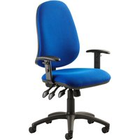 Haze 3 Lever Operator Chair With Adjustable Arms, Blue