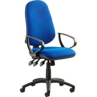 Haze 3 Lever Operator Chair With Fixed Arms, Blue