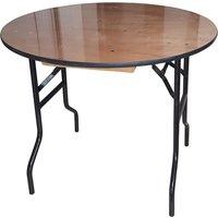 Suttner Round Folding Trestle Table, 91diax76h (cm)