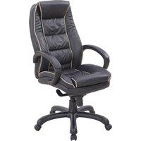 Ranna Leather Faced Executive Chair, Black