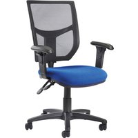 Gordy 2 Lever Mesh Back Operator Chair Adjustable Arms (Blue)