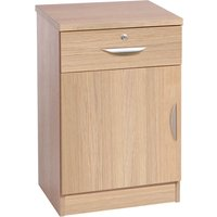 Small Office Deep Cupboard With Single Drawer, Sandstone