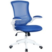 Moon Mesh Back Operator Chair With White Base (Blue), Blue