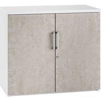 Delgado 1 Shelf Cupboard (Concrete), Concrete