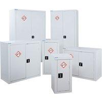 QMP Acid and Alkali Storage Cupboard, White