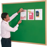 White/green/silver Eco Friendly Felt Noticeboard Accepts Both Pins & Velcro. Find Loads More Colours, Materials & Styles