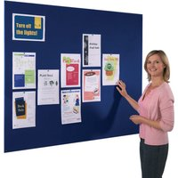 White/green Felt Frameless Noticeboard. Find Loads More Colours, Materials & Styles Online - Buy Office Furniture Online