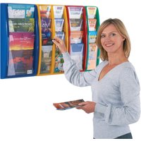 Yellow/blue Panorama Leaflet Dispenser & Holder. Find Loads More Colours, Materials & Styles Online - Buy Office Furnitu