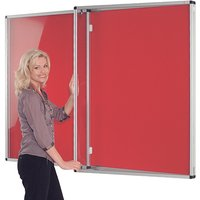 White/green Tamperproof Lockable Felt Noticeboard Convered With Doors. Find Loads More Colours, Materials & Styles Online -