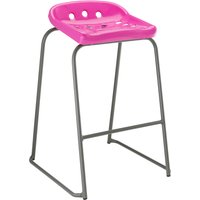 8 X Grey/pink Hille Pepperpot Classroom Stool. Find Loads More Colours, Materials & Styles Online - Buy Office Furniture Onl