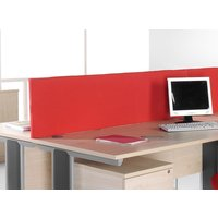 Orange Fabric Rectangular Desktop Partition & Divider Screens. Find Loads More Colours, Materials & Styles Online - Buy