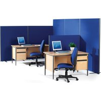 Grey Freestanding Office Floor Screens/partition/divider. Find Loads More Colours, Materials & Styles Online - Buy Office Fu