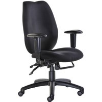 Black Cornwall High Back Ergonomic Operator Chair. Find Loads More Colours, Materials & Styles Online - Buy Office Furniture Onl