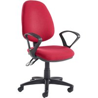 Black Vantage Deluxe Operator Chair With Fixed Arms. Find Loads More Colours, Materials & Styles Online - Buy Office Furnitu