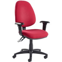 Purple Vantage Deluxe Operator Chair With Adjustable Arms. Find Loads More Colours, Materials & Styles Online - Buy Office F