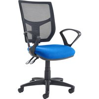Red Gordy 3 Lever Mesh Back Operator Chair With Fixed Arms. Find Loads More Colours, Materials & Styles Online - Buy Office