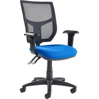 Grey Gordy 3 Lever Mesh Back Operator Chair With Adjustable Arms. Find Loads More Colours, Materials & Styles Online - Buy O