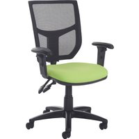 Green Gordy 2 Lever Mesh Back Operator Chair With Adjustable Arms. Find Loads More Colours, Materials & Styles Online - Buy Offi