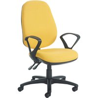 Gilmour extra high back operator chair with fixed arms