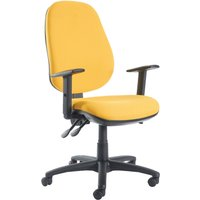 Orange Gilmour Extra High Back Operator Chair With Height Adjustable Arms. Find Loads More Colours, Materials & Styles Onlin