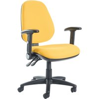 Brown Gilmour High Back Operator Chair With Folding Arms. Find Loads More Colours, Materials & Styles Online - Buy Office Fu