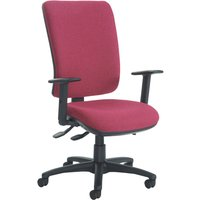 Polnoon extra high back operator chair with height adjustable arms