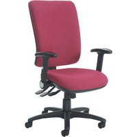 Yellow Polnoon Extra High Back Operator Chair With Folding Arms. Find Loads More Colours, Materials & Styles Online - Buy Of