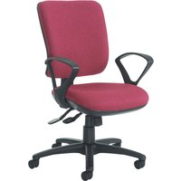 Blue Polnoon High Back Operator Chair With Fixed Arms. Find Loads More Colours, Materials & Styles Online - Buy Office Furni