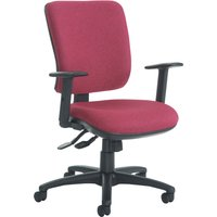 Blue Polnoon High Back Operator Chair With Height Adjustable Arms. Find Loads More Colours, Materials & Styles Online - Buy