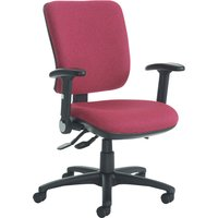 Blue Polnoon High Back Operator Chair With Folding Arms. Find Loads More Colours, Materials & Styles Online - Buy Office Fur