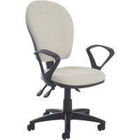 Grey Castle High Back Operator Chair With Fixed Arms. Find Loads More Colours, Materials & Styles Online - Buy Office Furnit