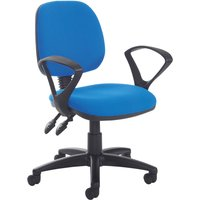 Blue Point Medium Back Operator Chair With Fixed Arms. Find Loads More Colours, Materials & Styles Online - Buy Office Furni