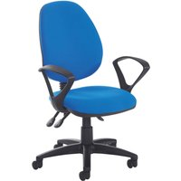 Brown Point High Back Operator Chair With Fixed Arms. Find Loads More Colours, Materials & Styles Online - Buy Office Furnit