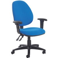 Blue Point High Back Operator Chair With Height Adjustable Arms. Find Loads More Colours, Materials & Styles Online - Buy Of