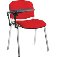 Volta conference chair with writing tablet (chrome frame)