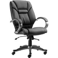 Black Fiji Leather Faced Executive Chair. Find Loads More Colours, Materials & Styles Online - Buy Office Furniture Online
