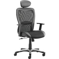 Black Canica Mesh Back Operator Chair With Headrest. Find Loads More Colours, Materials & Styles Online - Buy Office Furnitu