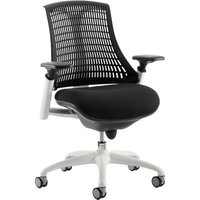 Black Warp White Frame Black Mesh Back Operator Chair. Size: 53/50/50. Find Loads More Colours, Materials & Styles Online - Buy