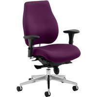 Purple Praktikos Plus Posture Operator Chair. Find Loads More Colours, Materials & Styles Online - Buy Office Furniture Onli