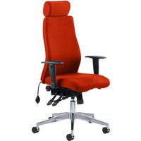 Orange Brechin High Back Fabric Executive Chair With Headrest. Find Loads More Colours, Materials & Styles Online - Buy Office F
