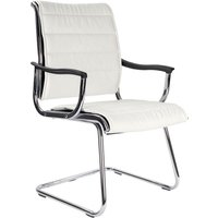 White Havana White Leather Faced Visitor Chair. Size: 58/49/49. Find Loads More Colours, Materials & Styles Online - Buy Off