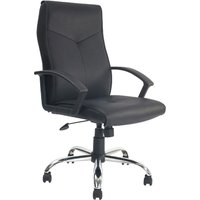 Black Hartley High Back Executive Leather Faced Chair. Size: 60/50/48. Find Loads More Colours, Materials & Styles Online -