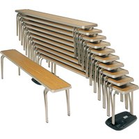 Brown Gopak Economy Stacking Bench. Find Loads More Colours, Materials & Styles Online - Buy Office Furniture Online