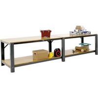 Heavy Duty Modular Workbench With Lower Shelf. Find Loads More Colours, Materials & Styles Online - Buy Office Furniture Onl