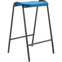 8 X Black Hille Polypropylene Flat Top Classroom Stool. Find Loads More Colours, Materials & Styles Online - Buy Office Furn