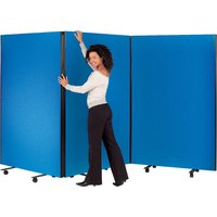 Red Busyscreen Triple Safety Screen Set. Find Loads More Colours, Materials & Styles Online - Buy Office Furniture Online