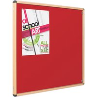 Red Eco-colour Resist-a-flame Wood Effect Tamperproof Noticeboards. Find Loads More Colours, Materials & Styles Online - Buy